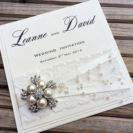 Beautiful Handmade Wedding Invitation