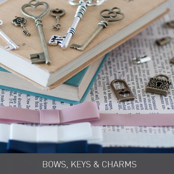 Bows Keys and Charms from Imagine DIY | Home of DIY Wedding Stationery and Craft Supplies
