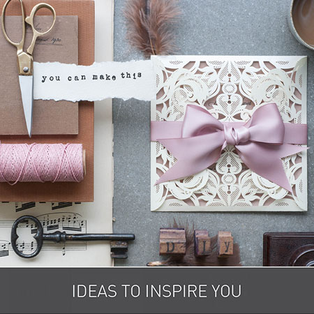 Ideas to Inspire You for Wedding Invitations from Imagine DIY | Home of DIY Wedding Stationery and Craft Supplies