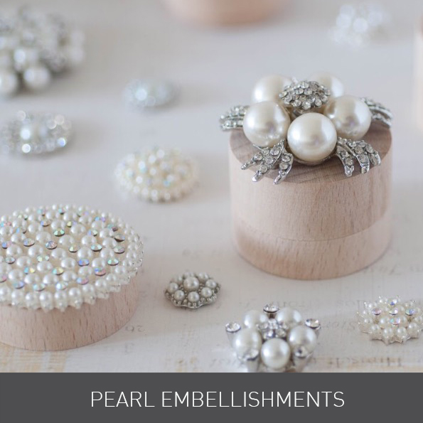 Crystals and Pearl for Wedding Invitations from Imagine DIY | Home of DIY Wedding Stationery, Laser Cut, Crystal Embellishments and Craft Supplies