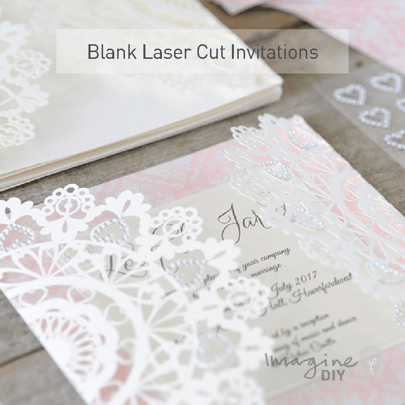 Laser Cut Wedding Invitations from Imagine DIY | Home of DIY Wedding Stationery and Craft Supplies