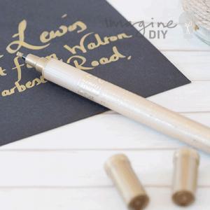 White Chalk Pen Imagine Diy Diy Wedding Stationery