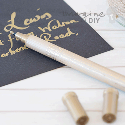 Double Sided Calligraphy Pen In Metallic Gold Imagine Diy