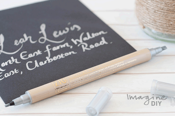Double Sided Calligraphy Pen In Metallic Silver Imagine Diy