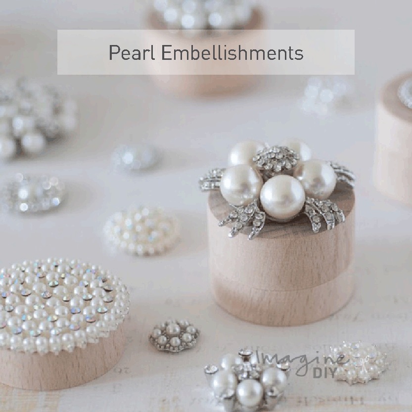 Pearls for DIY Wedding Invitations from Imagine DIY | Home of DIY Wedding Stationery, Laser Cut, Crystal and Pearl Embellishments and Craft Supplies
