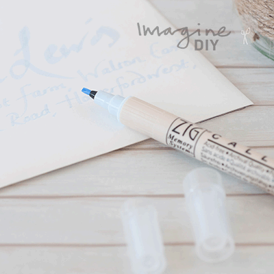 Double Sided Calligraphy Pen In Powder Blue Imagine Diy