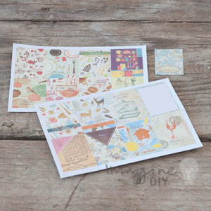 self adhesive stamp stickers. DIY wedding stationery. Cheap craft accessories