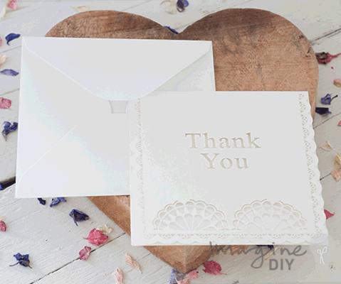 Seville Thank You Card Envelope Imagine Diy
