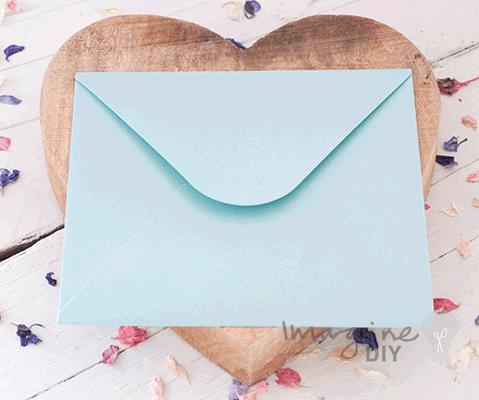 Doily Turquoise Envelope