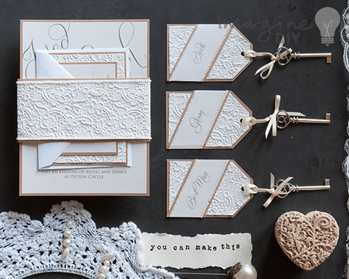 picture about Embossed Stationery known as How towards MakeLace Embossed Stationery - Consider Do it yourself