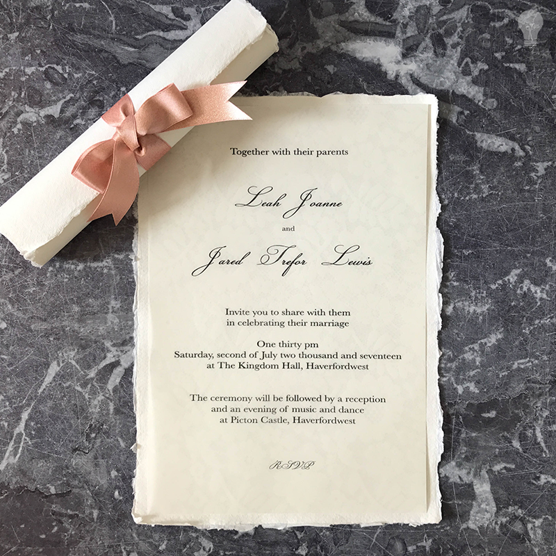 How To Make Easy Scroll Invitations Imagine Diy