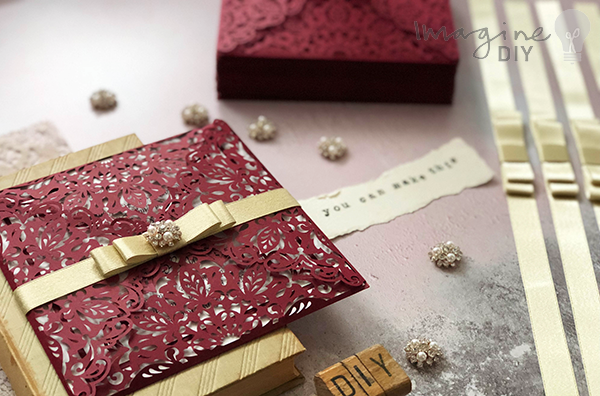 51a9f47502475 How to Make - Luxury Laser Cut Invitations in Burgundy and Gold