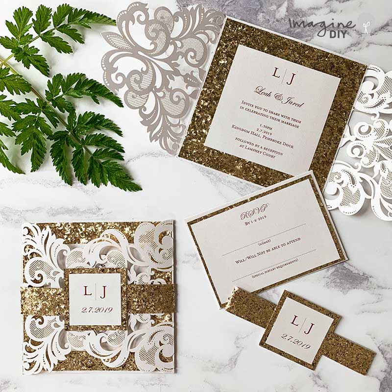 How To Make An Invitation Belly Band Imagine Diy