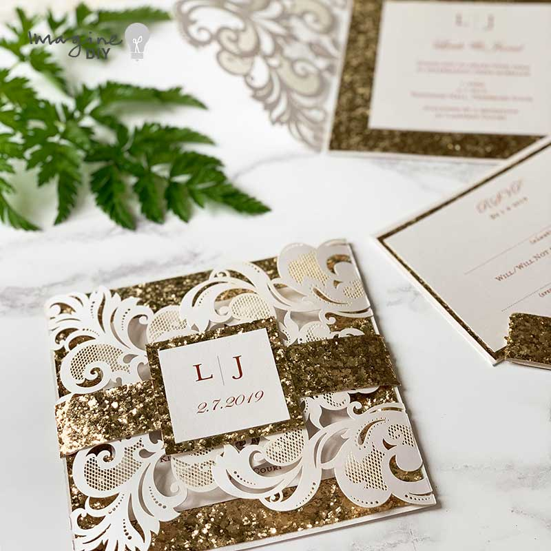 Luxury Wedding Invitations.How To Make Luxury Wedding Invitations With Belly Band Imagine Diy