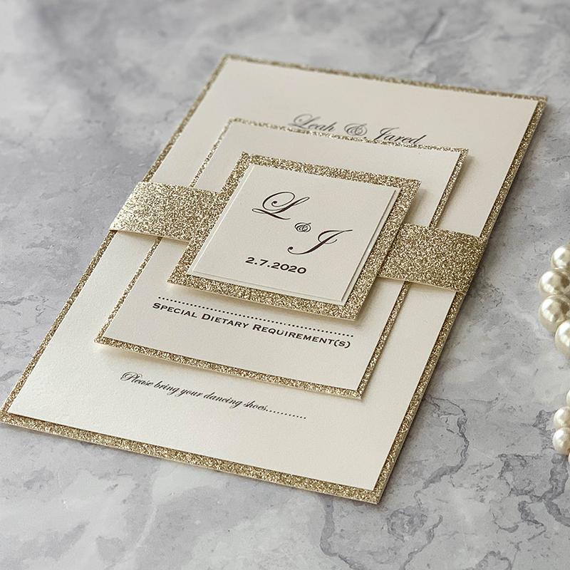 Champagne Sparkles Diy Invitation Kit Pack Of 10 From 1 20 Per Invitation Imagine Diy