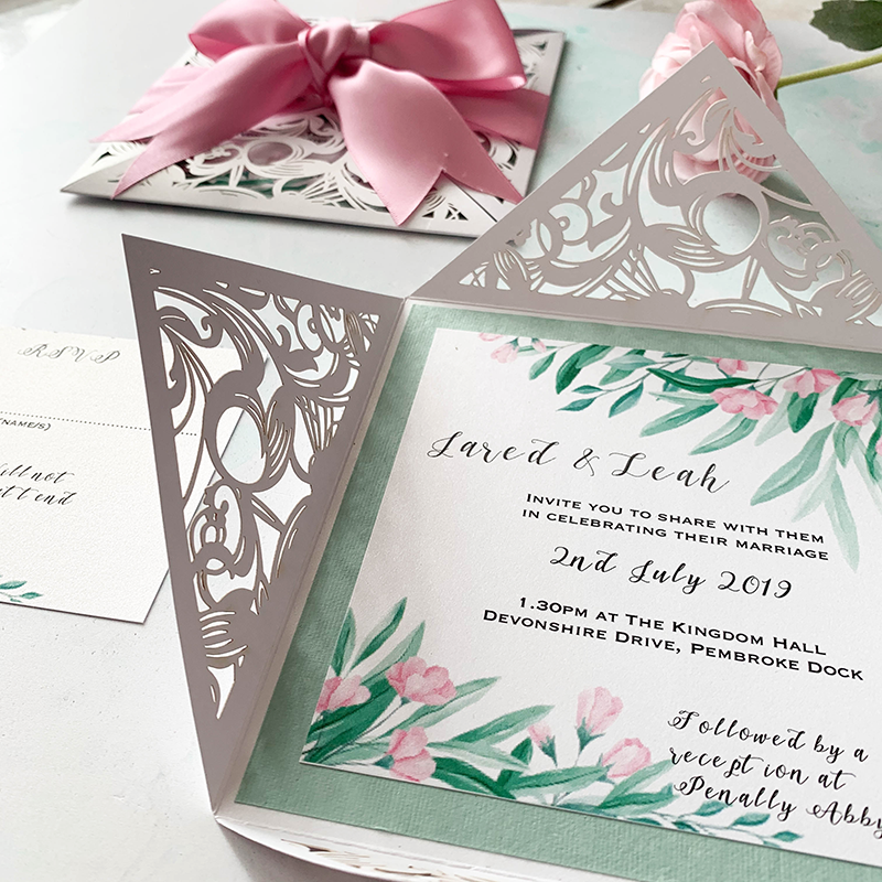 How To Make Pretty Laser Cut Invitations With Bow Imagine Diy